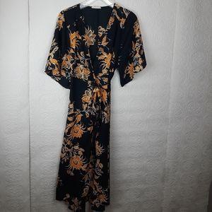 Free People Kimono Rype Floral Print Size Small